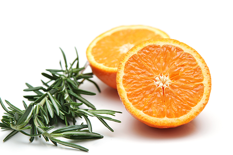Satsuma and rosemary