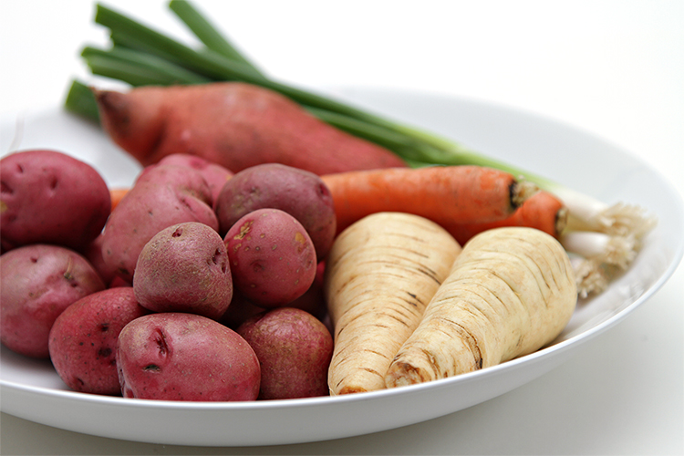 Root vegetables for hash browns
