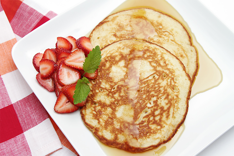 Lemon souffl pancakes recipe food style lemon souffl pancakes with strawberries ccuart Gallery