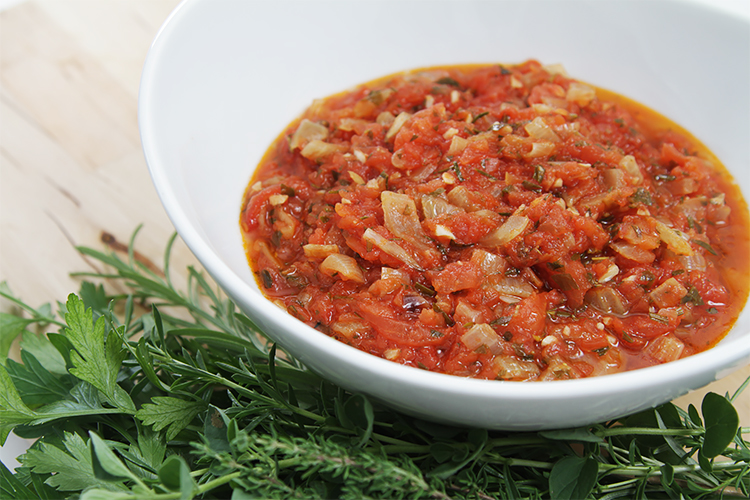 Summer Tomato Sauce With Sweet Onion Food Style