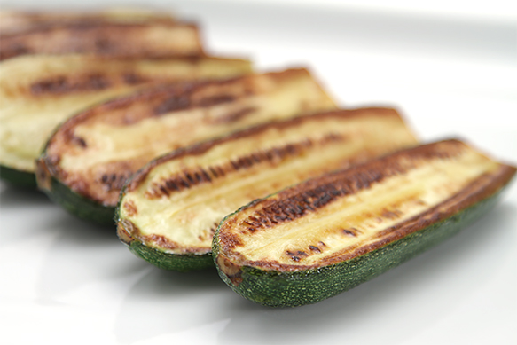 Pan-roasted zucchini