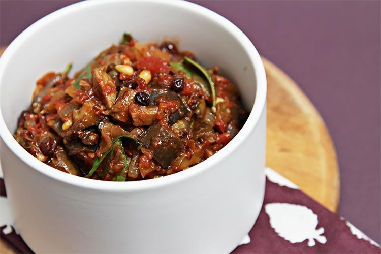 Eggplant caponata The sautéed eggplant, cooked separately, puts this ...