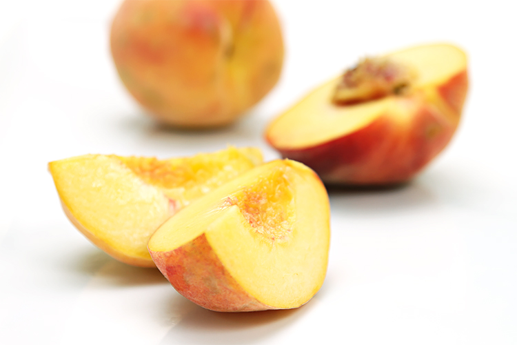 Yellow peach slices