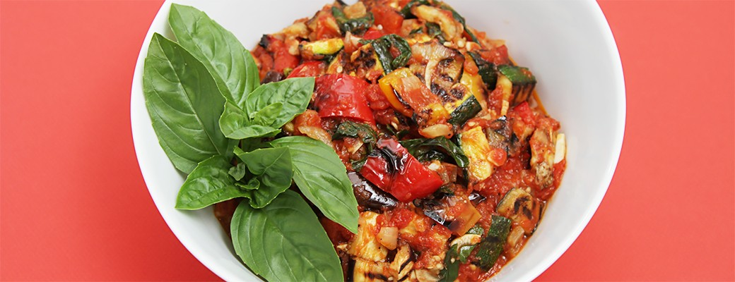 Grilled vegetable ratatouille with fried capers-1040